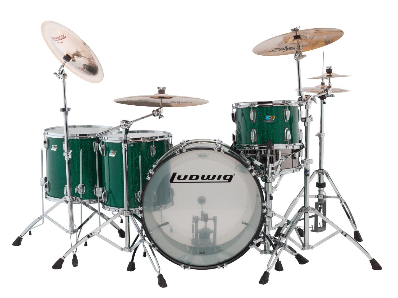 ludwig vistalite drum sets elevated audio. Black Bedroom Furniture Sets. Home Design Ideas