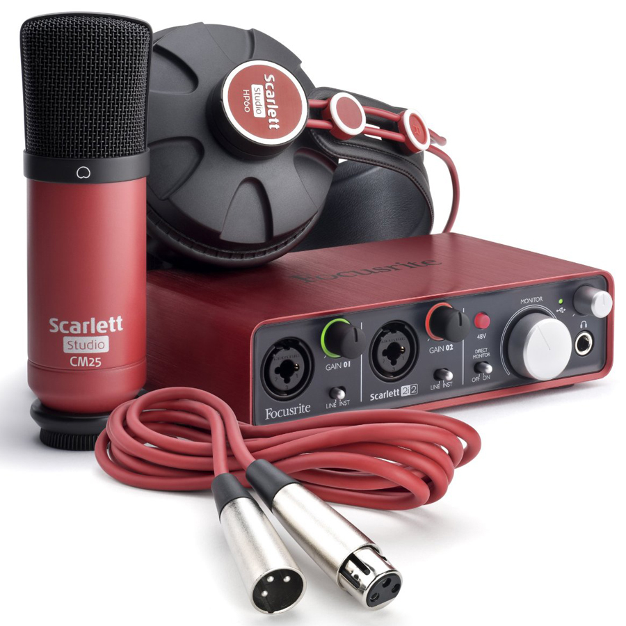 Focusrite Scarlett 2i2 Studio Bundle Pack thumbnail