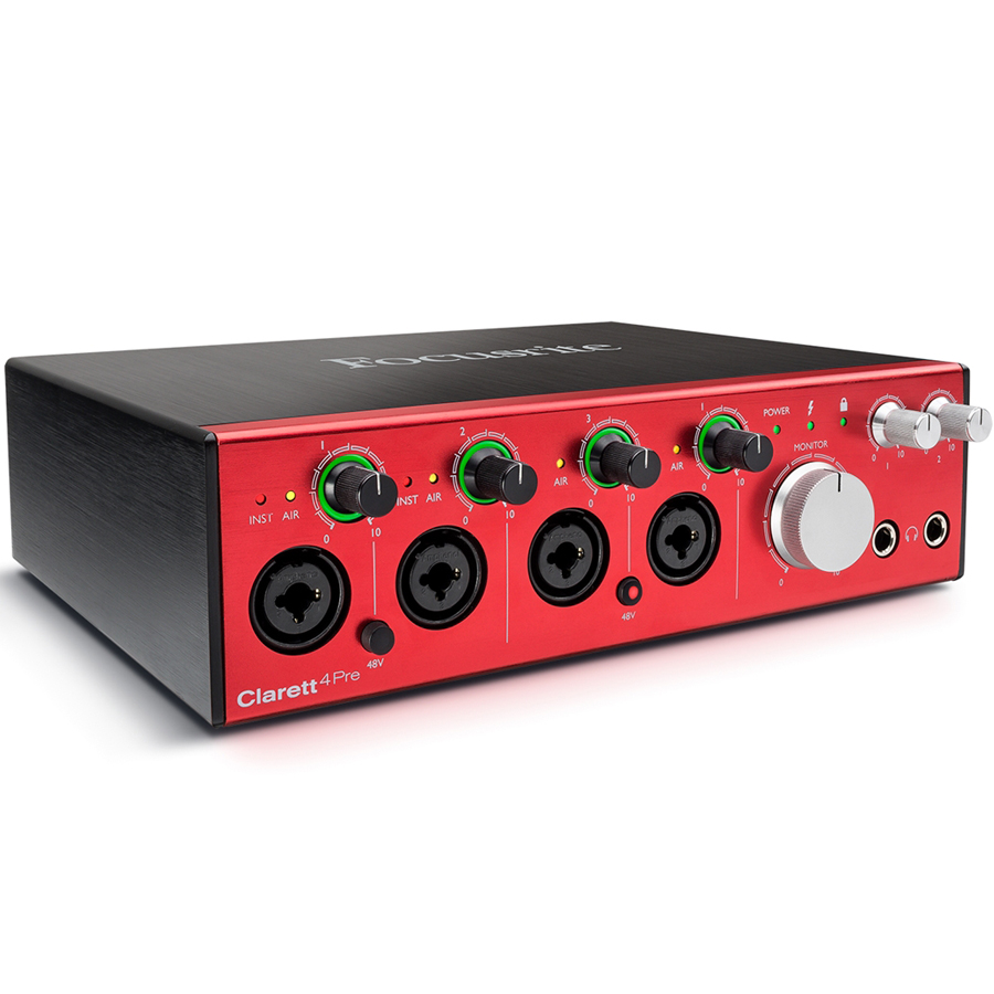 Focusrite Clarett 4Pre Thunderbolt Audio Interface thumbnail