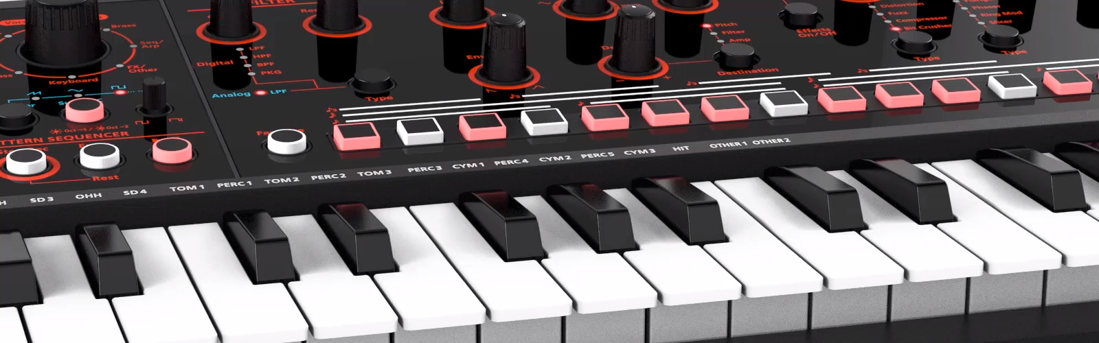 Roland JD-Xi Interactive Analog/Digital Crossover