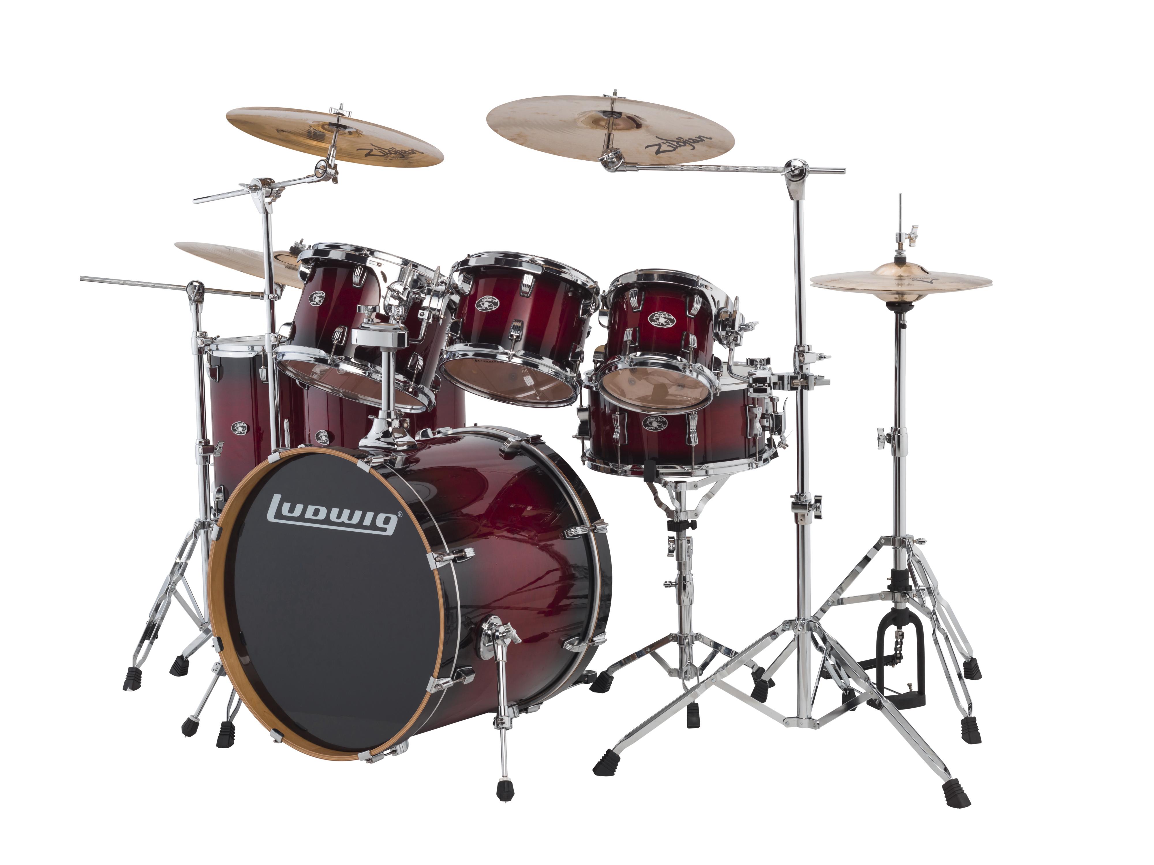 ludwig evolution maple drum sets elevated audio. Black Bedroom Furniture Sets. Home Design Ideas