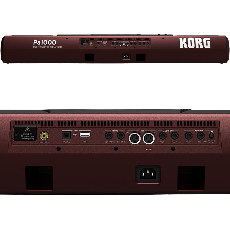 מסודר KORG Pa1000 61-Key Professional Arranger Keyboard – Elevated Audio AI-85