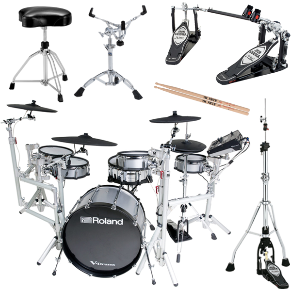 "Roland TD-50KV-RM Custom V-Drums® Kit <font color=dd00"">PREFERRED BUNDLE – Only $8499.99!</font> thumbnail"